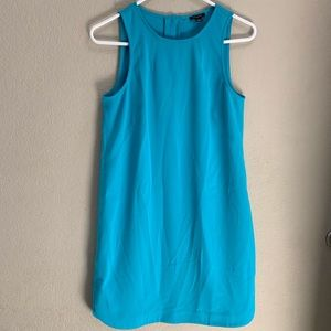 Ann Taylor teal colored sleeveless dress size 4